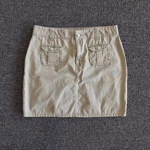 GAP Olive Green Mini Skirt with Flap Pockets 10